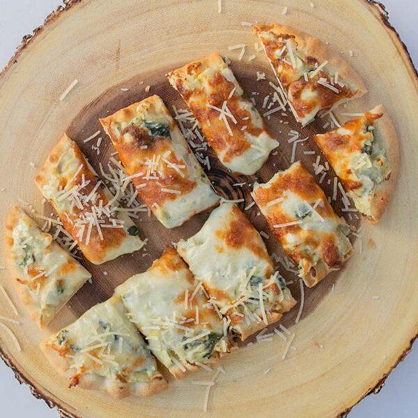Spoons Fed Creamy Artichoke and Spinach Flatbread