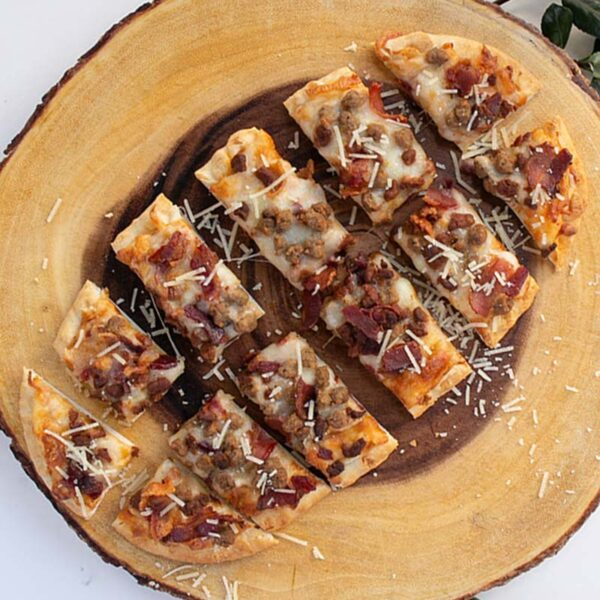 Spoons Fed Meat Lover Flatbread Pizza