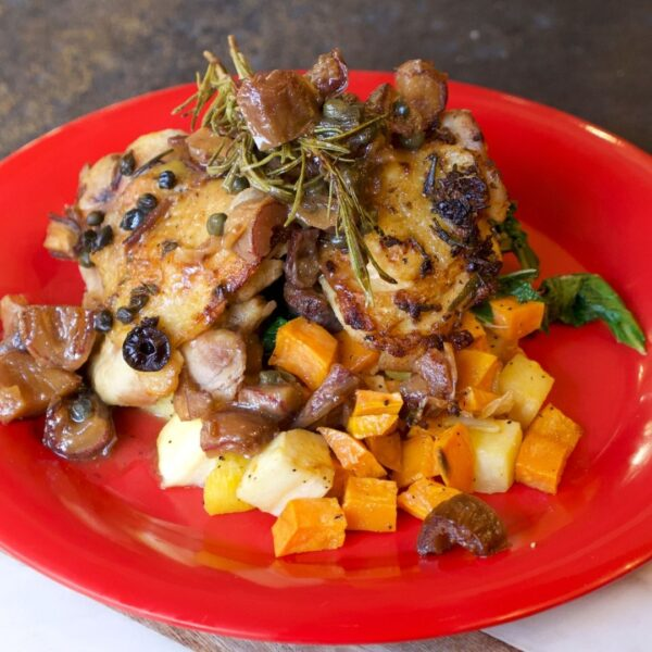 Chicken and Sweet Potatoes plate