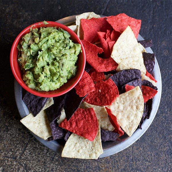 Spoons Fed Chips and Guacamole